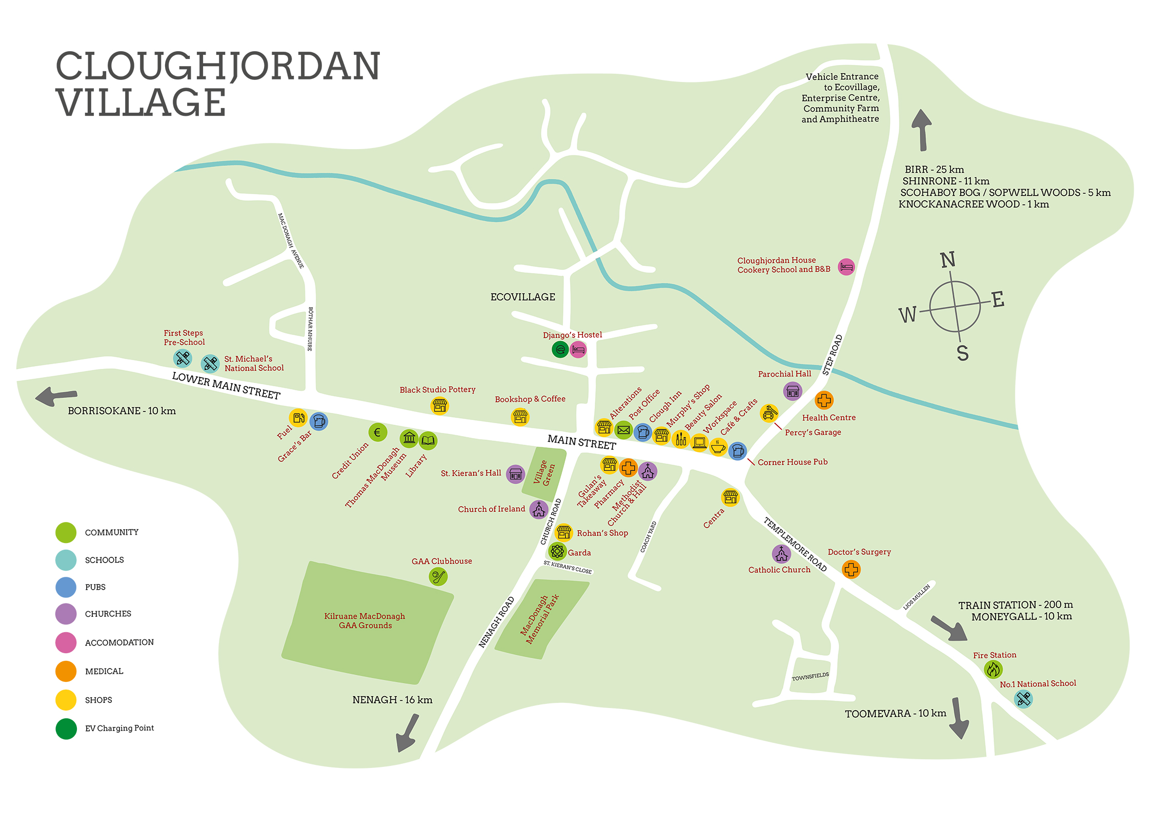 Map of Cloughjordan